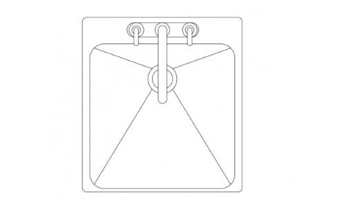 bloque de autocad de fregadero 1 seno